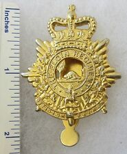 Post WW2 Vintage CANADIAN ARMY ELGIN REGIMENT CAP BADGE Queens Crown