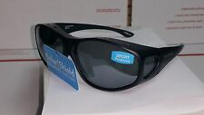 Solar Shield Sport POLARIZED Sunglasses Fits Over Rx Glasses Extra Large NWT