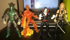 Marvel Legends Lot of 4 Figures Whirlwind Valkyrie Morbeus Human Torch