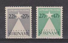 Luchtpost LP 29 - LP 30 MLH ong Suriname 1947 lepra zegels airmail
