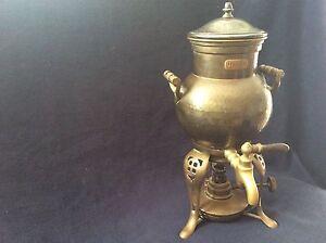 Samovar Rare Flip Burner Antique Copper Coffee Maker Urn