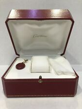 Cartier Authentic Red Leather WATCH BOX Storage Case with Booklet and Tag NOS