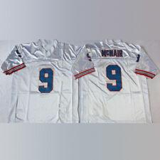 Vintage Houston Oilers #9 Steve McNair Football White Throwback Jersey US Sizes