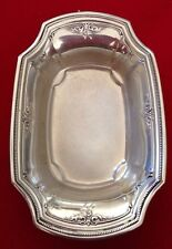 Vintage R WALLACE & SONS Sterling Silver Dish Bowl Business Card Tray Set 2