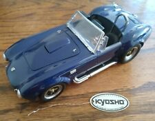 Kyosho Shelby Cobra 427S/C Dark Blue 1/18 Scale Diecast Model Unboxed