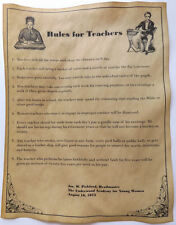 1872 Rules for Teachers Poster. Feel free to customize. novelty.
