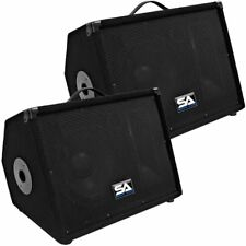 "Seismic Audio Pair 10"" Floor Monitors Studio/Stage New PA/DJ Speakers"