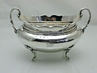 Antique Solid Silver Twin Handled Sauce or Sugar Bowl  251g (1681/9/VkG)
