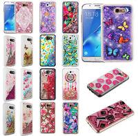 For Samsung Galaxy J7 Sky Pro Liquid Glitter Quicksand HARD Case Phone Cover