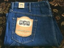 "Big Smith Men Carpenter Jean Shorts Medium Stonewash Denim 10"" Inseam Size 34"