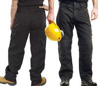 2 x Regatta Mens Premium Workwear Walking Hiking Cargo Trousers Black 34L