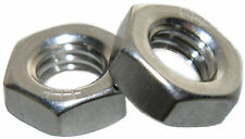 Stainless Steel Fine thread thin jam half height Hex Nuts 1/2-20 Qty 10