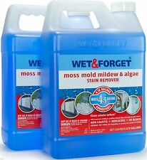 2 Wet and & Forget  0.75 Gallon Moss Mold Mildew Algae Stain Remover Concentrate