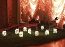 10-Pack Solar Mason Jar 4-LED Light Magnet on/off Switch Hanger Wedding Stake