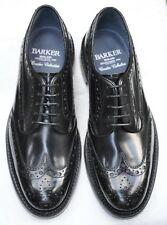 New & Boxed Barker 'Anderson' Derby Brogue Black Leather Shoes 7 UK 41 EU 8 US