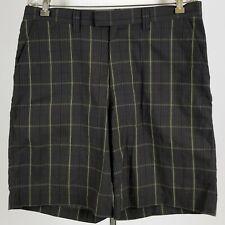 Patagonia Hiking Shorts gray Seersucker Windowpane Box Check Organic Cotton 34