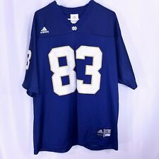 Adidas Notre Dame Mens Fighting Irish #83 Football Blue Jersey Size Large