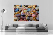 Shiny Pebble Pebble Pebbles Stones Wall Art Poster A0 Wide Print