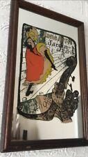 More details for vintage advertising mirror jane avril jardin de paris