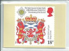 GB - PHQ CARDS -1987 - SCOTTISH HERALDRY - BACK - FDI/SHS - COMP SET  USED