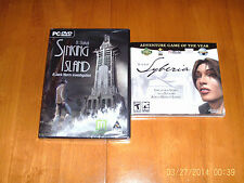 sinking island & syberia   b.sokal 2 great adventure games  new&sealed