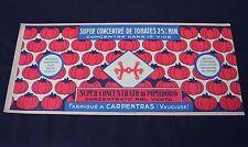 1 grande ancienne étiquette boite de conserve tomate concentré 25 % Carpentras