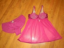 Womens Cacique 2- Piece Teddy Lingerie Size 14/16 (Pink & Cream)