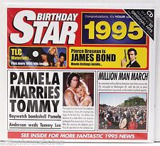 Birthday / Anniversary Greeting Card NEWS with 20 Original Hit Songs of 1995 CD