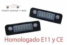 PLAFONES LED MATRICULA FORD MONDEO MK2 FIESTA FUSION HOMOLOGADO E11 CE LUCES LUZ