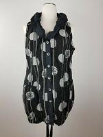 Liberty schönes Damen Minikleid Longshirt Shirt Schwarz mit Streifen Punkte  XXL