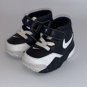 Nike Kobe Uptempo 1 Black White 2c Toddler Baby Kids Infant