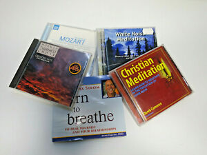 5 CD BUNDLE CHRISTIAN MEDITATION WHITE NOISE 7Hz LEARN 2 BREATH DE-STRESS MOZART