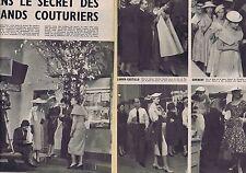 COUPURE DE PRESSE CLIPPING 1954 DIOR,FATH,LANVIN,DESSES,GIVENCHY  (6 pages)