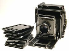 Crown Graphic 4x5 Press Film Camera Graflex Optar Lens f/4.7 135mm Excellent