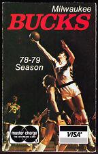 1978-79 MILWAUKEE BUCKS MASTERCHARGE VISA BASKETBALL POCKET SCHEDULE FREE SHIP