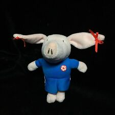 "Olivia The Pig Blue Shorts Shirt Soccer Plush Soft Toy Small 5"" Stuffed Red Bows"