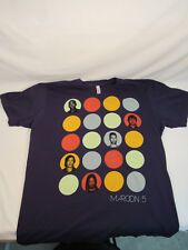 Maroon 5 Band Adam Levine North America Concert Tour 2013 Xl Shirt Navy Blue