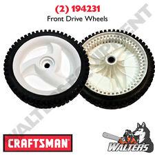(2) Genuine Craftsman 194231 Front Drive Wheels also fits Husqvarna 532403111