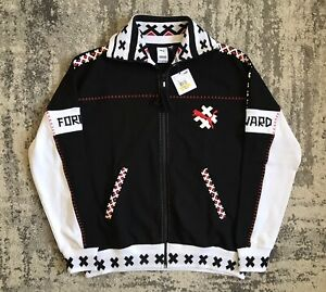 Puma x Jahnkoy XTG Track Jacket Size MEDIUM Mens Black Red White 596686-01 Rare