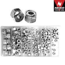150 pc Nylon Lock Nut Assortment w/ plastic case/ neiko tools usa #50432a