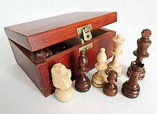 NUOVO TORNEO ponderata Staunton Nr 4 pedine in legno/Pezzi con Scatola Di Immagazzinaggio