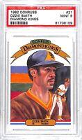 1982 Donruss Diamond Kings_Graded Baseball Card_#21 Ozzie Smith_PSA 9 MINT