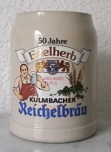 Bierkrug Krug Humpen 50 Jahre Edelherb Jubiläumspils Kulmbacher Reichelbräu