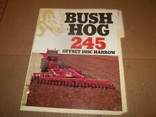 PY99) Bush Hog Sales Brochure 4 Pages - 245 Offset Disc Harrow