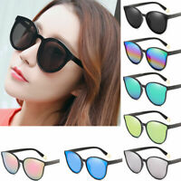 Fashion Women Sunglasses UV400 Flat Square Mirror Cat Eye Oversized Eyewear Hot