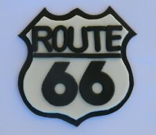 1 edible ROUTE 66 STREET ROAD SIGN cake topper DECORATION casino POKER CARS