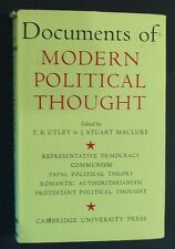 Documents Of Modern Political Thought - ed T E Utley - hbdj 1957