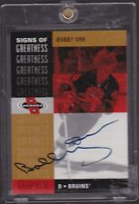 "2000-01  UD  ""SIGNS OF GREATNESS"" BOBBY ORR, BOSTON BRUINS HAND SIGNED AUTOGRAPH"