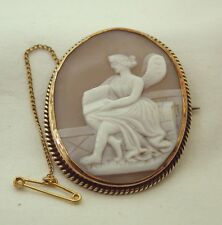 Victorian Rose Gold  Mounted Cameo Brooch