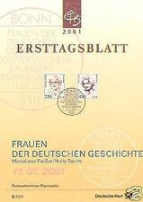 BRD 2001: Marieluise Fleißer und Nelly Sachs! Ersttagsblatt der Nr 2158+2159! 1A